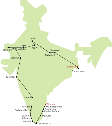 Itinéraire Inde