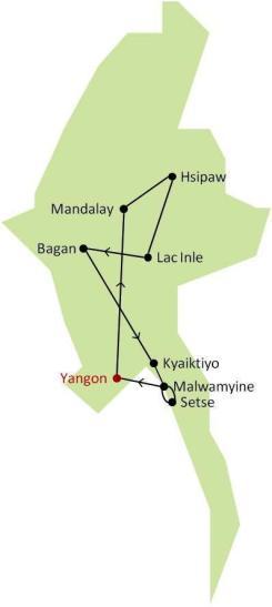 Itinéraire Birmanie