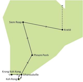 Itinéraire Cambodge
