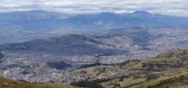 Quito from the Pinchincha volcano