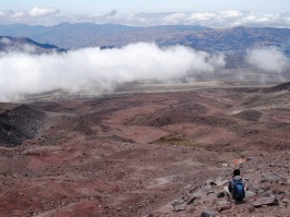 View from the Chimborazo volcano