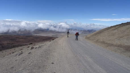 Down the Chimborazo volcano