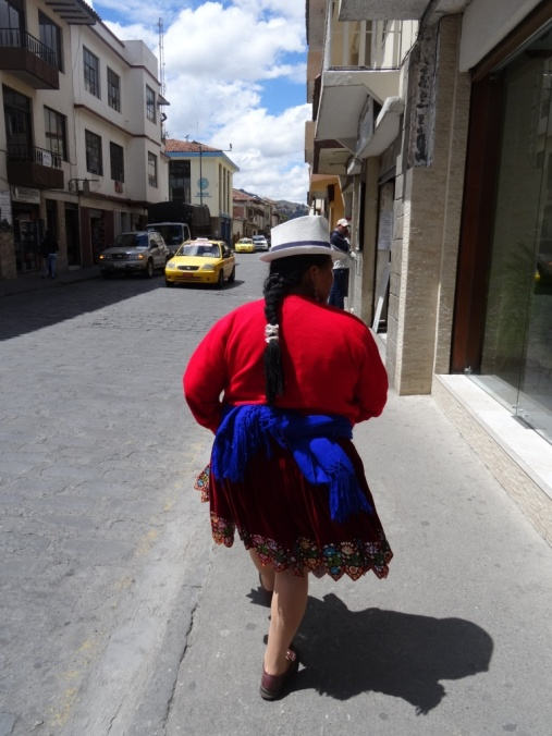 Woman with a hat - Cuenca