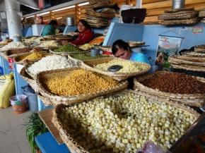 Corn market stall - Cuenca