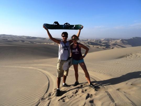 Sand surfing - Huacachina