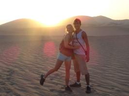 Sunset - Huacachina oasis