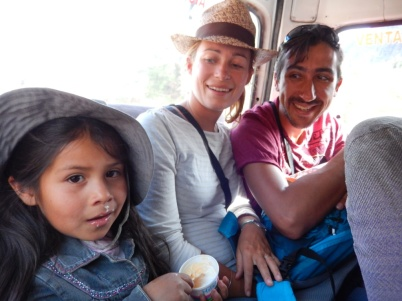 In the bus - Sacred Valley
