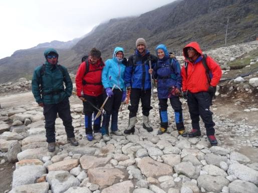 Huayna Potosi team