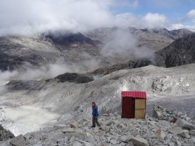 Panoramic toilets - Huayna Potosi trekking