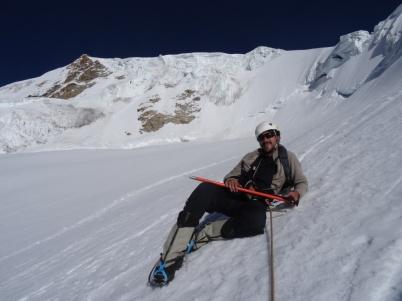 On the way down - Huayna Potosi trekking